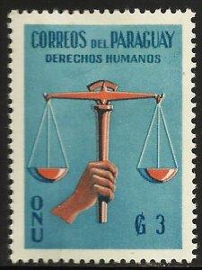 Paraguay 1960 Scott# 566 MH (thin)