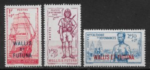Wallis & Futuna 1941 Vichy, Defense of the Empire, Sc # B6-B8, VF MNH** (DLC)