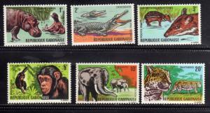 GABON GABONAISE GABOON GABUN 1967 AFRICAN FAUNA ANIMALS ANIMAUX ANIMALI AFRIC...