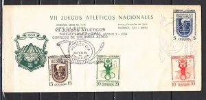 Colombia, Scott cat. 623-624, C256-257. Nat`l Athletic Games. First Day Cover.