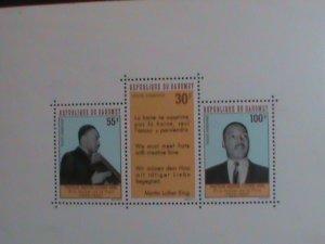 DAHOMEY STAMP:1968-SC#C73A MARTIN LUTHER KING JR. MNH - S/S SHEET