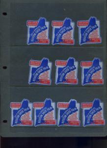 10 VINTAGE 1939 BOSTON SHOE FAIR & EXPO POSTER STAMPS (L884) MASSACHUSETTS