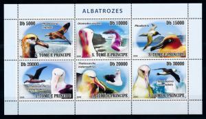 [96751] Sao Tome & Principe 2008 Birds Vögel Oiseaux Albatross Sheet MNH