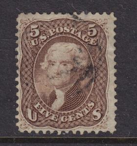 76 F-VF used neat light cancel with nice color ! see pic !