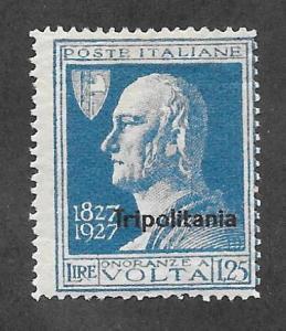 Tripolitania Scott 27 Mint 1.25L O/P Volta stamp 2015 CV $13.50