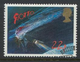 Great Britain  SG 1313 SC# 1134 Used / FU with First Day Cancel - Halley's Comet
