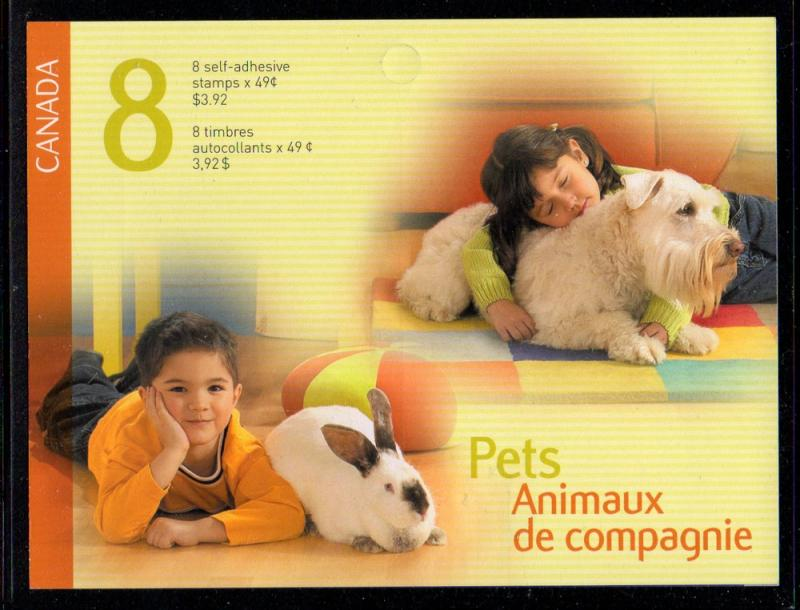 Canada Sc 2060a 2004 Pets stamp booklet mint NH
