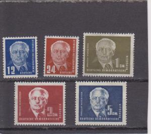 German Democratic Republic, GDR 54-57A  Mint Hinged