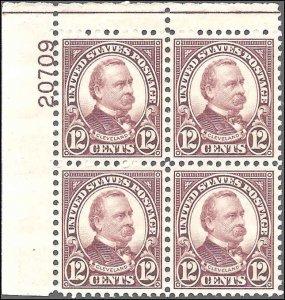 693 Mint,OG,XLH... Plate Block of 4... SCV $22.50... XF