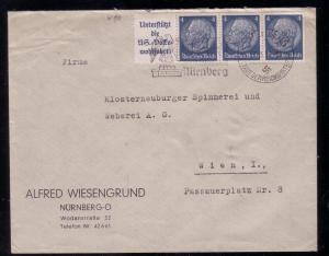 * Third Reich Se-Tenants Mi. W 89 on Cover