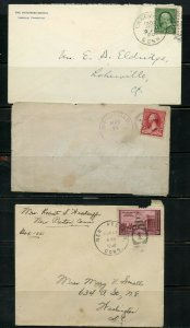 US POSTAL HISTORY OF STATE OF CONNECTICUT LOT OF 12 COVERS 1886-1989 AS SHOWN