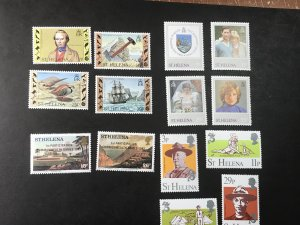ST.HELENA # 368-381-MINT NEVER/HINGED--4 COMPLETE SETS--1982