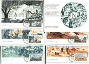 Sweden  Maximum Card  5 diff Nobel Prize Winners 1985