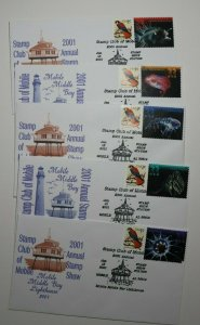 Stamp Club Mobile AL Middle Bay Lighthouse 2001 Expo show Cachet Cover 3434-3443