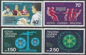 Kenya, Uganda, Tanganyika  296-9  MNH  World Population Year