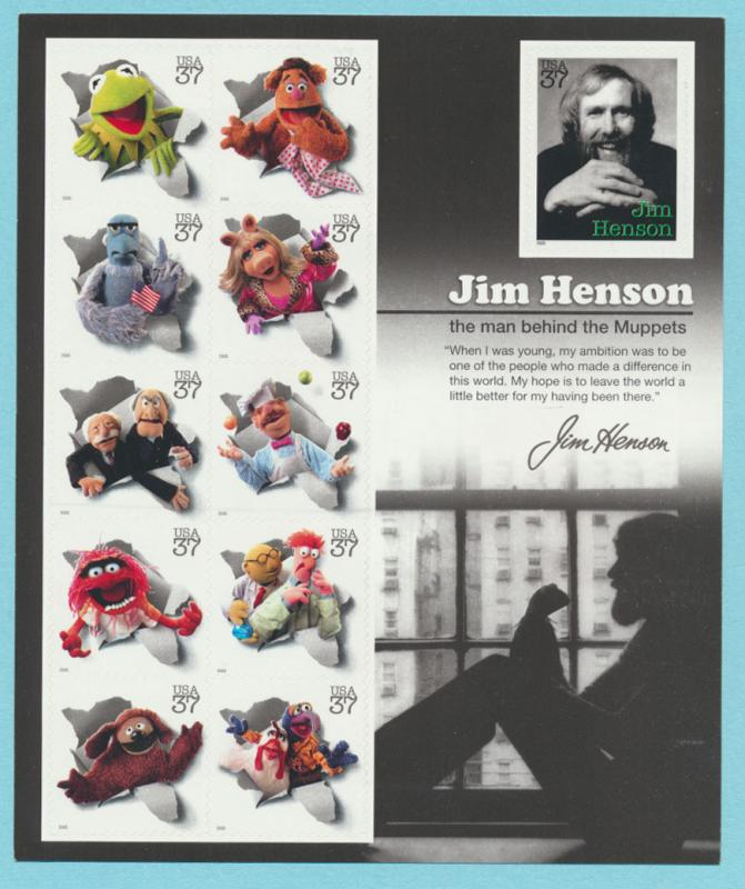SC# 3944 MINT - Henson / Muppets in Hollywood  sheet of 11 - as new