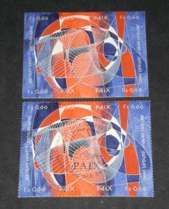 U.N.GENEVA #239a, 1993 INTL. PEACE DAY BLOCKS OF 4, MNH, CTO,NICE!! LQQK!!