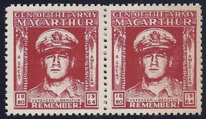 General Macarthur Cinderella Poster Stamp Pair General of The Army 1880-1964