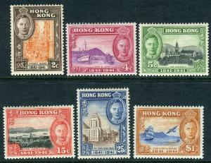 HONG KONG-1941 Centenary.  A mounted mint set Sg 163-168