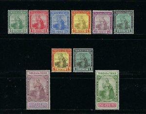 TRINIDAD & TOBAGO SCOTT #1-11 1913 WMK 3 - MINT LH (TOP VALUE HAS TINY THIN)