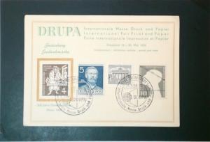 Germany 1954 DRUPA Postcard / Corner Crease - Z3451