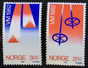 Norway 1982 #798-9 MNH. Skiing