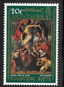 Montserrat 258: 20c Descent from the Cross, MH, F-VF