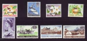 Cook Islands Sc C1-8 1866 Airmail stamp set mint NH