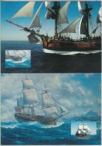 82576 - AUSTRALIA  - Postal History -  set of 2 STATIONERY CARDS - SHIPS boats