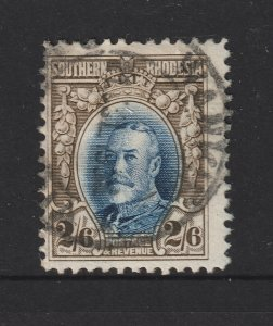 Southern Rhodesia a used KGV 2/6 perf 12