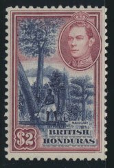 British Honduras  SG 160 SC # 125  Used / FU   please see scans