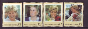J21901 Jlstamps 1998 png set mnh #937a-d princess