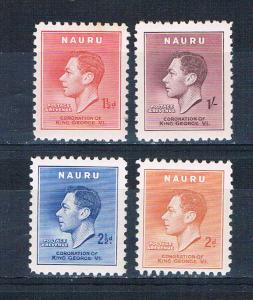 Nauru 35-38 MNH set George VI 1937 (N0640)
