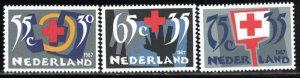Netherlands Scott # B629 - B631, mint nh