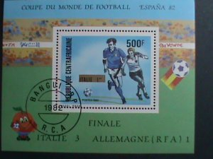 CENTRAL AFRICA-1982-WORLD CUP SOCCER ESPANA'82-ITALY- CTO S/S VERY FINE