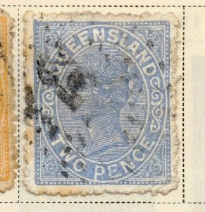 Queensland 1887-89 Early Issue Fine Used 2d. 326881
