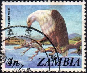 Zambia 138 - Used - 4n Fish Eagle (1975)