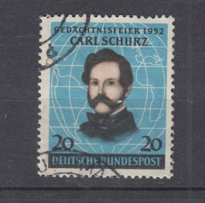 J28706, 1952 germany set of 1 used #691 schurz