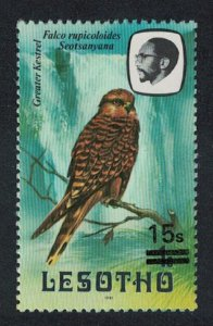 Lesotho Greater Kestrel Bird 1v overprint SG#724