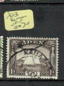 ADEN  (PP1106BB) 1 A  BOAT  SG 3    KAMARAN  CDS  VFU