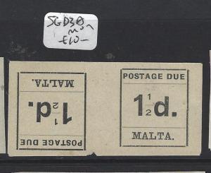 MALTA (P0606B) POSTAGE DUE 1 1/2 D TETE BECHE PR SG D3A  MOG
