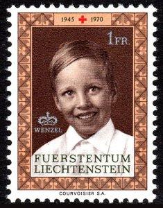 Liechtenstein 465, MNH. Liechtenstein Red Cross, 25th anniv. Prince Wenzel,1970