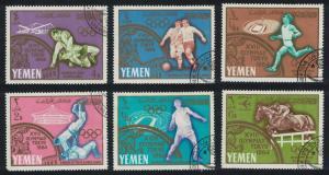 Yemen Wrestling Football Summer Olympic Games Tokyo 6v CTO SG#R123-R128