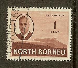 North Borneo, Scott #244, 1c King George VI, Used