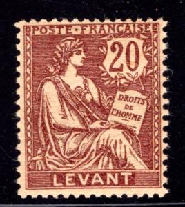French Offices in Turkey #28, mint hinged