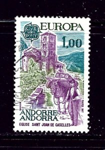 French Andorra 254 Used 1977 issue
