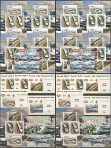 BU147 PERF,IMPERF 2012 BURUNDI TRANSPORT TRAINS CHINESE 12KB+2BL+10 LUX BL MNH