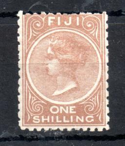 Fiji QV 1894 1/- pale brown mint MH #65 P11 & 10 WS13477