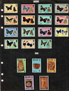 Belize Selection of 57 Stamps/1 Sheet MH/MNH/Used (SCV $78.10) Starting at 5%