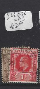 LEEWARD ISLANDS (P1610B)  KE 1/4D, 1D  SG 36, 38   VFU